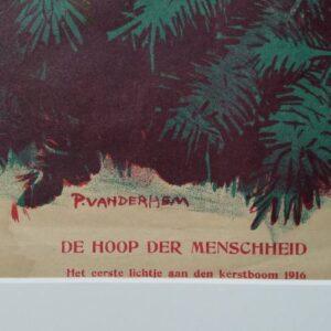 Steendruk Piet v/d Hem Kerst