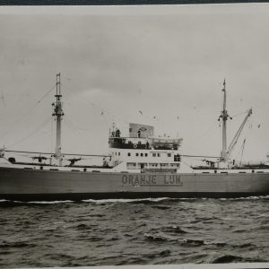11 ansichtkaarten van de Oranje lijn mij. vloot