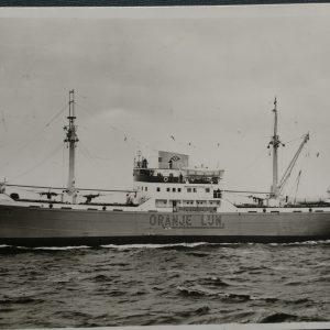 11 postcards of the Oranje line fleet