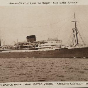 13 ansicht kaarten van Union Castle schepen