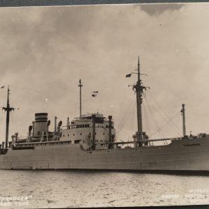 9 ansichtkaarten van de Westfal-Larsen vloot