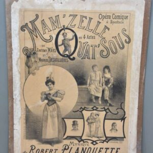 Affiche voor opera Mam'zelle Quat'sous (Parijs, 1897).