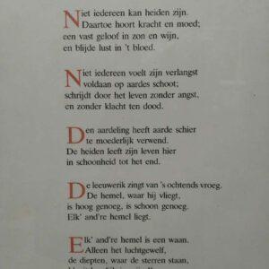 Sierdruk gedicht van René de Clercq