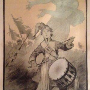 Affiche voor inschrijving op de 4de oorlogslening door de Franse Staat, 1916