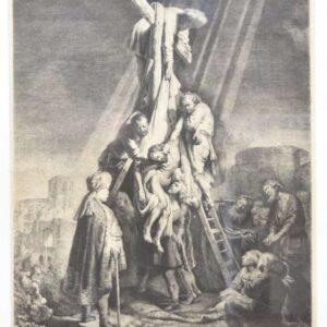 De kruisafname, tweede plaat door Rembrandt van Rijn