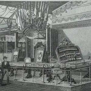 Gravure Expositions Universelle de Paris – Une grande exposition dentaire