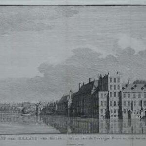 Gravure, Het hof van Holland naar C. Pronk