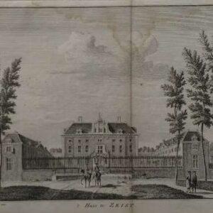Gravure 't Huis te Zeist, door Hendrik Spilman, naar Jan de Beyer