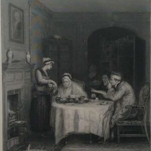 Gravure, The breakfast naar D. Wilkie
