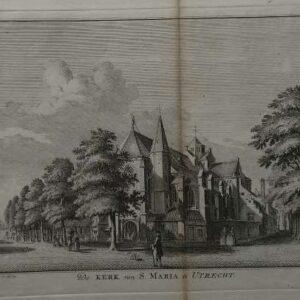 Gravure, De kerk van st. Maria te Utrecht door, Hendrik Spilman naar Jan de Beyer