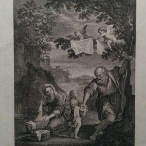 Gravure, Saint famille naar Francois Albani