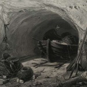 Gravure, The fishermans cave, naar E.W. Cooke