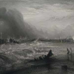 Gravure, Stranded vessel of Yarmouth, door J. W. M. Turner