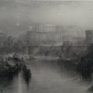 Gravure, Ancient Rome, door J.W.M. Turner