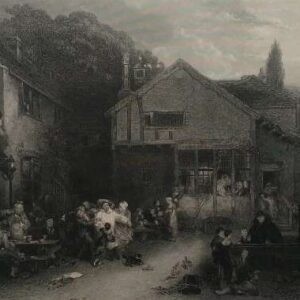 Gravure, The village festival naar Sir David Wilkie