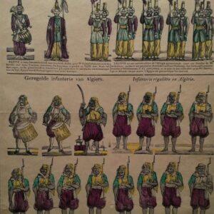 Kleurenlitho, Lijfwacht van den onder-koning van Egypte