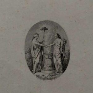 Allegorische gravure, door Reinier Vinkeles naar Jacob Buys.