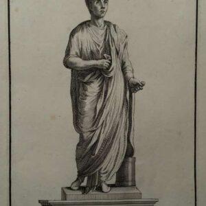Gravure, Statua di Vergillio, door Francesco Aquila