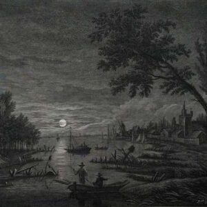 Ets, Troisieme vue sur la Meuse, door Franz Edmund Weirotter