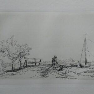 Het bruggetje van Jan Six, Door Rembrandt van Rijn
