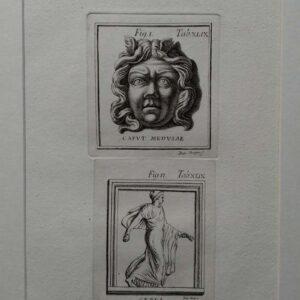 Gravure, Caput Medusae en Ceres, door Felipo Merghen