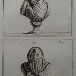 Gravure, Minerva & Silenus