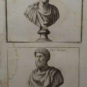 Gravure, L. Avr. Commodus, door M. Savella