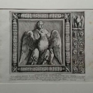 Ets, Titus aquilae in coelum fertur veteri superstitone inter divos relatus