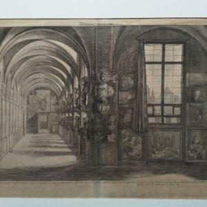 Gravure, Porticuum prospectes, door F. Van der Steen, naar N. Hoy