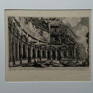 Eching, Veduto del second'ordine di una parte della calcidica del Foro di Trajano. by Piranesi