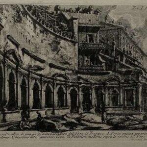 Ets, Veduto del second'ordine di una parte della calcidica del Foro di Trajano. door Piranesi