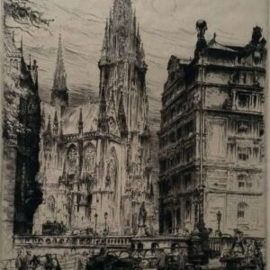 Ets, Nikolaikirche Hamburg, door Paul Geissler