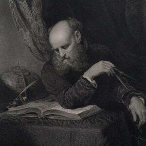 Gravure, The astronomer door R. Bell naar Henry Wyatt