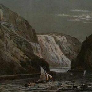 Kleurenlitho van De Loreley door de steendrukkerij Lith. Emrik & Binger