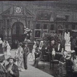 Gravure, Deutsche Kunstabteilung auf der Weltausstellung in Paris 1878