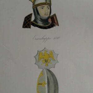 Eisenkappe, Englischer conischer stechhelm, Th. Russer