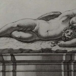 Gravure, Statua del Sonno, door Francesco Faraone Aquila