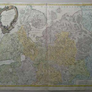 Grote kaart uit 1753 door Gilles Robert de Vaugondy & Fils, Russie Européenne
