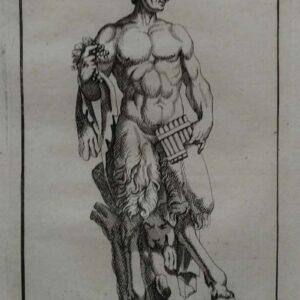 Gravure, Satyre, uit 1694 door Bistel (Philippe de Buyster) naar het ontwerp van Simon Thomassin