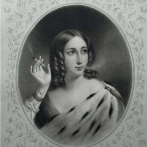 Litho, La lionne, door Loius Hippolyte Garnier naar Othon