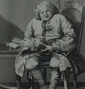 Gravure, Lord Loval, naar William Hogarth
