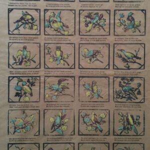 Centsprent N. 172, De vogeltjes die gij hier ziet o lieve kindren ! zingen niet