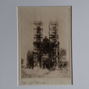 Etching, Notre Dame by Edward Cheney
