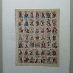 17th-century saints' leaf by Cornelis van Merle with 49 saints