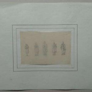 Klassieke figuren op transparant papier