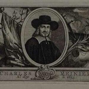 Gravure, Portret van Karel Reyniersz,door Jacob van der Schley
