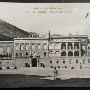 Set van 4 briefkaarten in zwart-wit, met als onderwerp Monaco