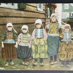 5 briefkaarten uit de jaren 20 30 van de 20ste eeuw, met voorstellingen uit Nederland