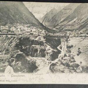 2 vroege briefkaarten (1905) en 1 kaart uit de jaren 50, met voorstellingen uit Zwitserland