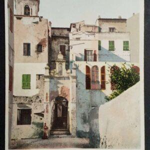 6 vroege briefkaarten (1905) in kleur met voorstellingen uit Bordighera